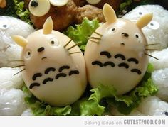 Totoro eggs.... how does one even eat these adorable things?!