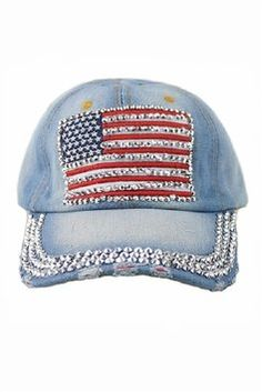 USA American Flag Bling Bling Crystal Distressed Denim Baseball Cap Hat. Get the lowest price on USA American Flag Bling Bling Crystal Distressed Denim Baseball Cap Hat and other fabulous designer clothing and accessories! Shop Tradesy now