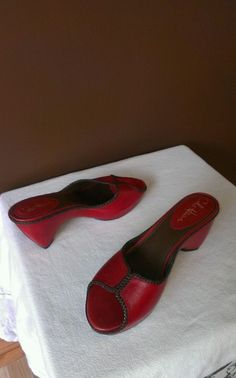 Cole Haan Nike Air red sandals Sz 8B, excellent condition #ColeHaan #Slides
