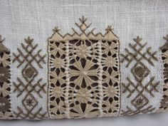 """Cosmetic Bag with """"Krestetsky hemstitch"""" embroidery (detail) ~ by Svetlana Tarasova of Here, inspired work and the joy of being"""