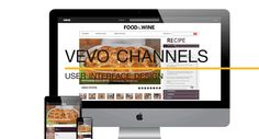 VEVO Channel Mockup – User Interface Design