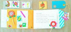 Mooi bloem-boekje #snailmail ontvangen ;-) met echte bloemzaadjes en veel fijne papieren bloemetjes