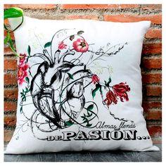"""#Cojines de diseño #Cushions design #Decoración """"Almas llenas de pasión..."""""""
