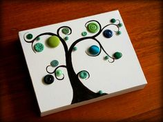 Tutorial for easy Button Tree art diy artwork easy colors nature Cute Crafts, Crafts To Do, Crafts For Kids, Arts And Crafts, Diy Crafts, Button Tree Art, Button Art, Button Crafts, Button Canvas
