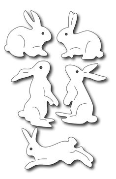 Frantic Stamper Precision Die - Assorted Bunnies-Set of 5 adorable bunny dies. Animal Templates, Easter Templates, Jelly Roll Quilt Patterns, Frantic Stamper, Wood Carving Designs, Angel Crafts, Autumn Crafts, Scroll Saw Patterns, Easter Celebration