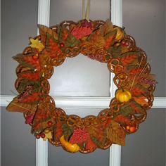 Autumn Pretzel Wreath