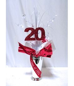 Class Reunion Fun - how many years since you graduated? Centerpieces for all class reunions.
