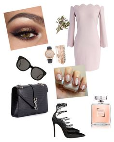 """""""Elegante ."""" by acisey-zednanreh on Polyvore featuring Chicwish, Dsquared2, Yves Saint Laurent, Gentle Monster and Jessica Carlyle"""