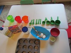 How you can promote math concepts in playful and natural ways! As adults, we can tend to over-think how to go about teaching math to young children but promoting mathematical thinking and basic math concepts can come through all kinds of Cooking In The Classroom, Preschool Cooking, Preschool Math, Teaching Math, Teaching Ideas, Math Math, E Cooking, Cooking With Kids, Cooking Ideas