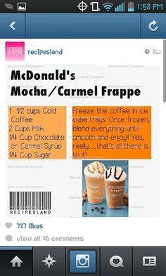 Mcdonalds frappe recipe mocha caramel