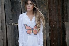 ROYAL RABBIT Monarch butterfly hoodie