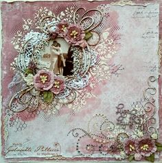 Such a Pretty Mess: Live Love Laugh {Dusty Attic, Maja Design and Shimmerz Paints} Scrapbook Designs, Scrapbook Page Layouts, Scrapbook Cards, Vintage Scrapbook, Wedding Scrapbook, Mixed Media Scrapbooking, Mixed Media Canvas, Decoupage, Card Making