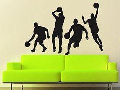 Vinyl Wall Decal Sticker Bascetball Player Team Boy Kids Game Gift Bedroom A90