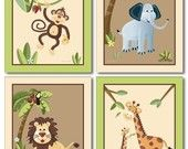 Etsy wall art for safari/rainforest theme