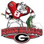 Logo for Georgia Bulldogs Bass fishing team