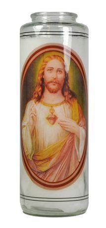 "Mainstays 8"" Religious Candle - Jesus White"