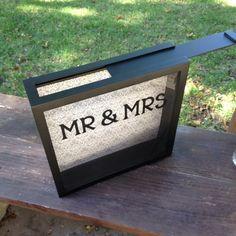 WEDDING CARDS Box 12x12 Shadow Box THEN by CelebratingTheMoment