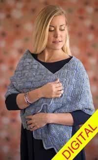 Hydrangea #Tunisian #Wrap Digital #Crochet Pattern from Love of Crochet magazine, Spring 2015