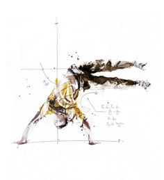 Scientific Break Dancing Drawings - Artist Florian Nicolle Illustrates Dance with Math Equations