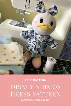 Learn how to make Disney nuiMOs clothing with this free pattern. Disney nuiMOs fans will love this sewing pattern to create their own nuiMO clothing. #disneynuimos #nuimosclothing #disney #disneysewing #nuimospattern Disney Crafts For Adults, Disney Diy Crafts, Easy Diy Crafts, Cute Crafts, Bow Pattern, Free Pattern, Disney Parks Blog, Disney Plush, Disney Planning