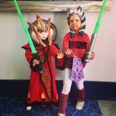 Adorable Amidala and Ashoka kids cosplay! #WonderCon #StarWars #WonderCon2014