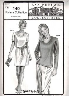 Stretch & Sew Pattern 140 ~ Riviera Collection ~ Bust 30-46
