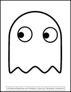 Pac Man Ghost Stencil More