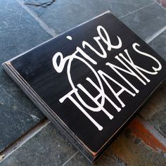 GIVE THANKS rustic wood sign by back40life on Etsy