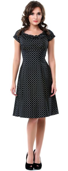 Heartbreaker 50's Style Dynasty Black Beverly Dress - Unique Vintage - Pinup, Holiday & Prom Dresses.