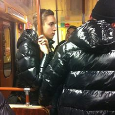 Cool Jackets, Winter Jackets, Nylons, Pvc Raincoat, Puffer Jackets, Hot Boys, Moncler, Cute Guys, Leather Pants