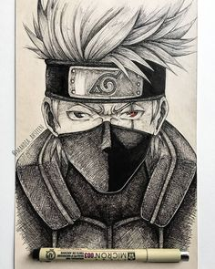 A gallery with the coolest fan art from Naruto, from fans to fans Naruto Sketch Drawing, Kakashi Drawing, Naruto Drawings, Anime Drawings Sketches, Anime Sketch, Anime Naruto, Naruto Uzumaki Art, Wallpaper Naruto Shippuden, Kakashi Hatake