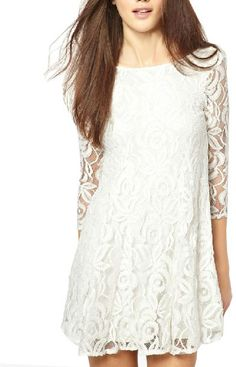 In summer season, women would love to wear white lace dresses. Lets read out how would you style white lace dress in summer. Lace Party Dresses, Cute Dresses, Lace Dress, Dresses With Sleeves, Dress Long, Sleeve Dresses, Wedding Dress, Dresses Dresses, Mini Dresses