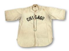 Lot Detail - RARE AND IMPORTANT C.1927 WILLIE FOSTER CHICAGO AMERICAN GIANTS NEGRO LEAGUE GAME WORN JERSEY (NEWLY DISCOVERED) - MEARS A8