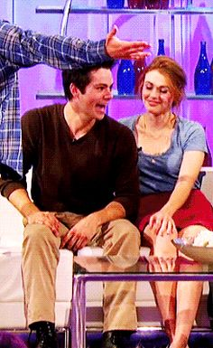 Dylan O´Brien and Holland Roden gif