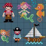 Cross Stitch Sea Creatures & Pirates