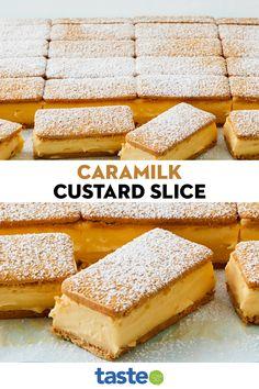 Custard Slice, Custard Filling, Custard Tart, Sweet Desserts, Delicious Desserts, Yummy Food, Fun Baking Recipes, Sweets Recipes, Cooking Recipes