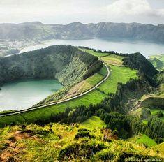 Santiago Lagoon, in Sao Miguel Island, Azores, Portugal. Photo by nunoesperanco… #portugaltravel
