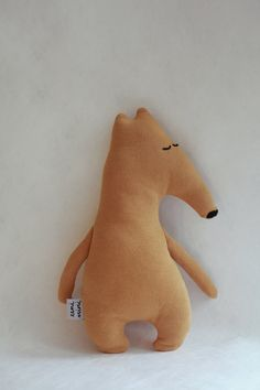 Little Anteater Tolly, handmade organic minimalist soft toy