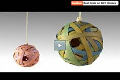 How to Make a Ball Birdhouse - Build your own Ball Birdhouse with this very simple idea. It's just a perfect project for your kids and look great in any garden.