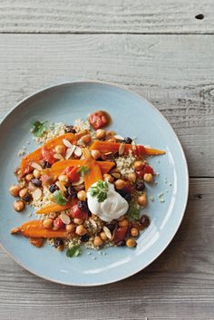 Braised Chickpeas and Carrots with Yogurt Topping Williams-Sonoma