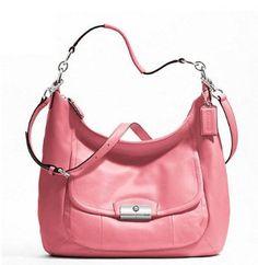 Coach 22309 Kristin Leather Large Hobo Rose Handbag Designer Handbags On Sale, Summer Bags, Timeless Fashion, Luxury Branding, Shoulder Bag, Purses, My Style, Leather, Collection