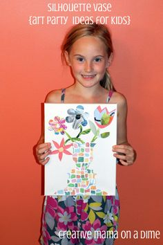 Creative Mama on a Dime: Art Party Ideas for Kids - Silhouette Vases for School Age Children