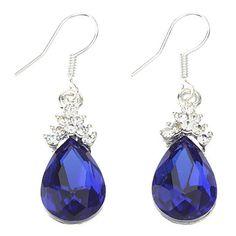 Blue Water-drop Shape Earrings – USD $ 4.99