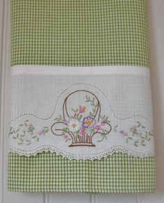 Recycled Vintage Pillowcase to Upcycled Tea Towel - Pretty on Pink - Homespun Home Decor