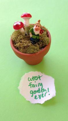 Easy Summer Kids Crafts - Make Miniature Gnome Fairy Gardens