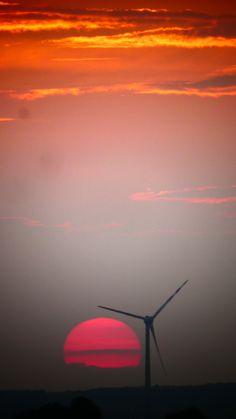 Parndorf Paris, Hungary, Wind Turbine, Austria, Celestial, Sunset, Outdoor, Morocco, Outdoors