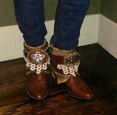 Gypsy Bohemian upcycled cowboy boots #Justin