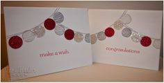 Toni Tessler (tonistamps) Independent Stampin Up Demonstrator.  Happy Congratulations lanterns Silver Red Glimmer paper Sweet Essentials