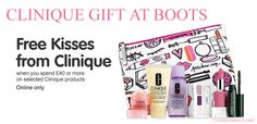 Clinique Bonus in UK at Boots (online only) starts today - 21st April 2016. Shop online and spend £40+