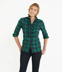 Holly Plaid Ruffle Shirt